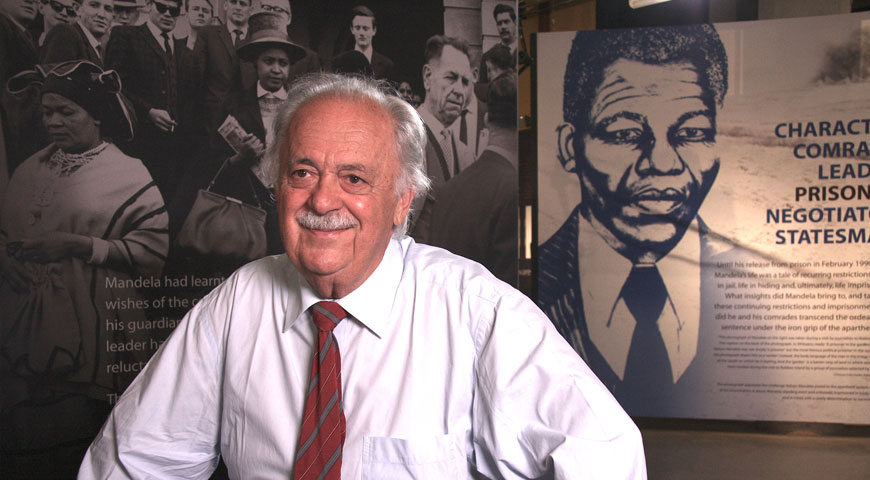 Interview with George Bizos at Apartheid Museum