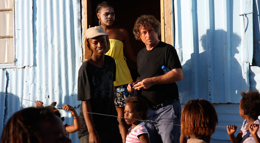 Director Michael Wilson in Khayalestsha township