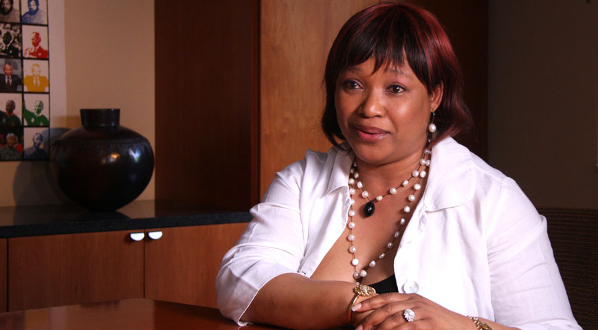Interview with Zindzi Mandela